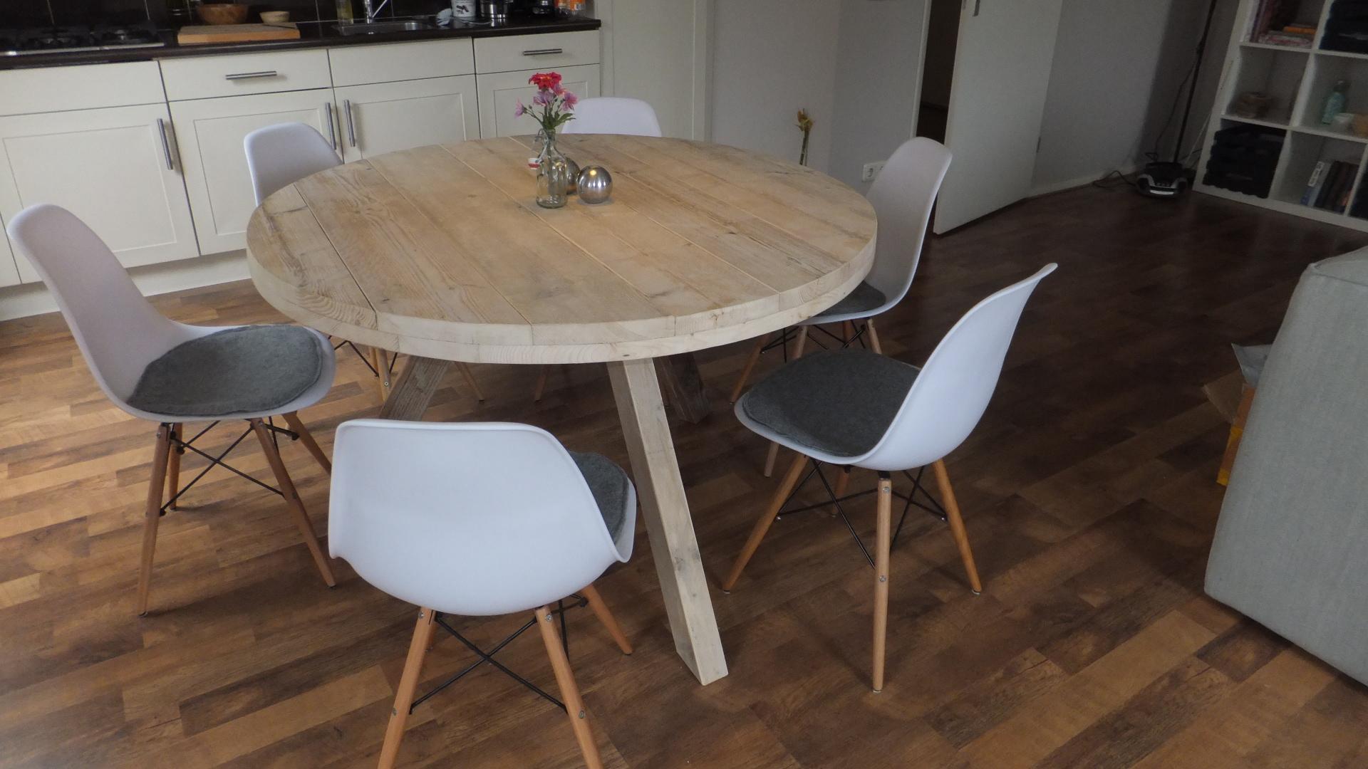 Steigerhouten ronde tafel - jl-meubelmaatwerk
