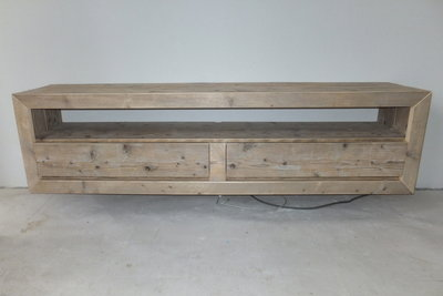 Audiomeubel zwevend model - jl-meubelmaatwerk